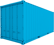 10ft Blue Shipping Container