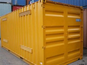 20ft yellow dangerous goods containers exterior Brisbane