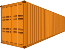 40ft Orange Shipping Container