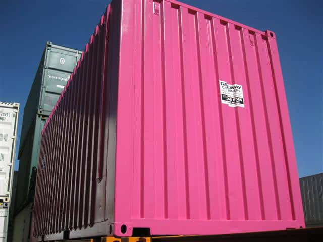 Pink 20ft high cube side