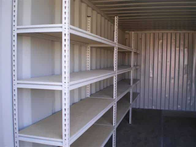 Secure document storage shelving fitted
