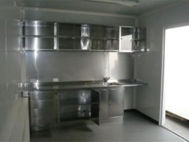 Shipping Container kitchen & lunch room