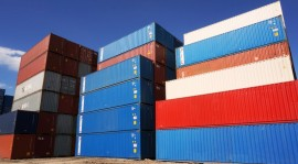 Shipping Containers Stacked