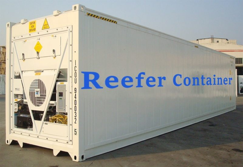 Image of a reefer container