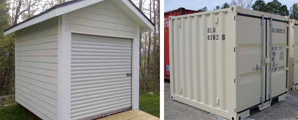 shipping container sheds