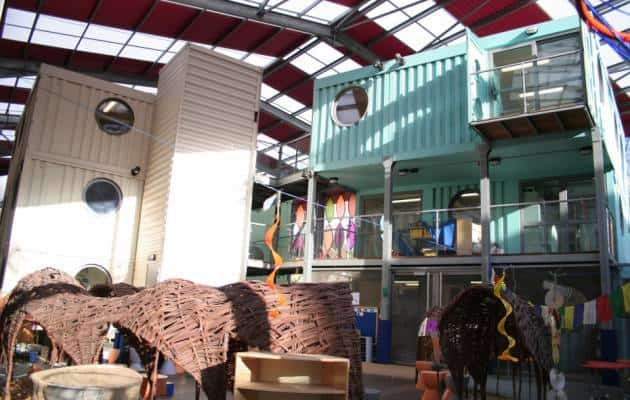 Fawood Children's Centre made from shipping containers