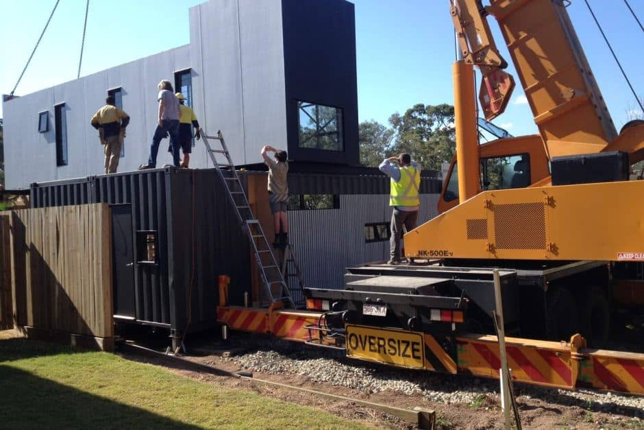 Affordable shipping container home