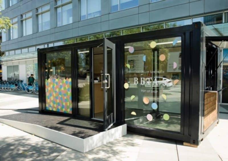 Shipping Container Pop Up Shops in Vancouver