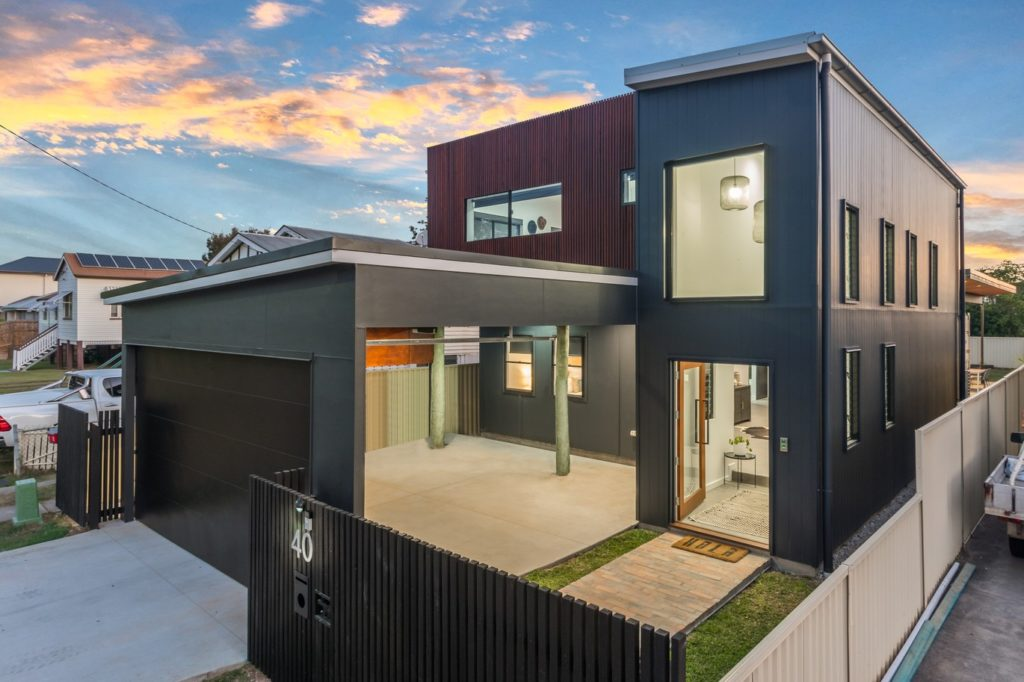 2 storey workers cottage made of shipping container in Brisbane