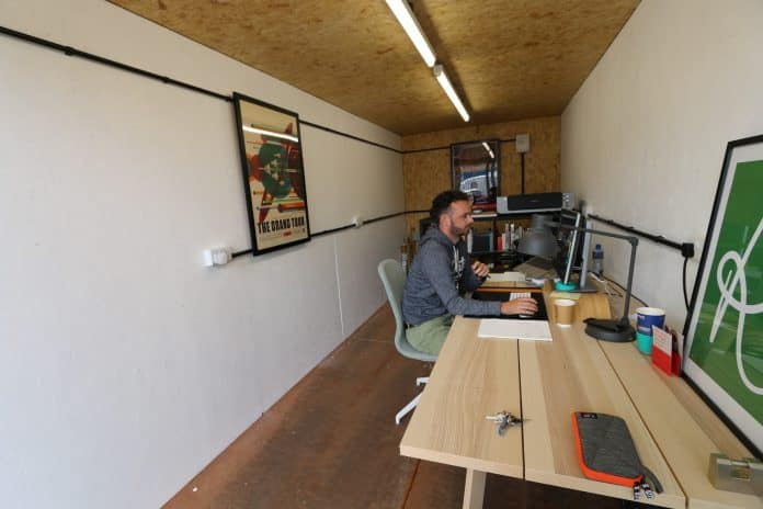 shipping container work place