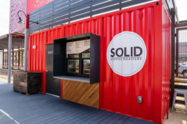 Solid Coffee: Shipping Container Outlet Opens in Bellflower, California