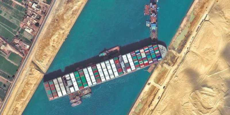 container ship stuck